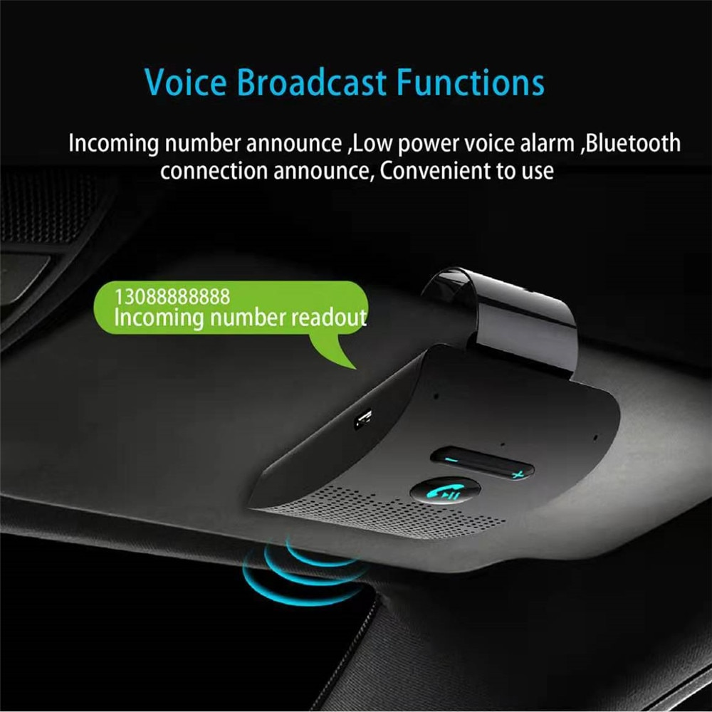 Car Bluetooth Hands free Car kit-automatic on-off Car Bluetooth speaker and Receiver
