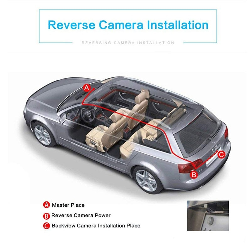Car Rear View Camera Reverse Universal HD Color Image Video Night Vision 170 Degree Wide Angle Waterproof Backup For Car Camera