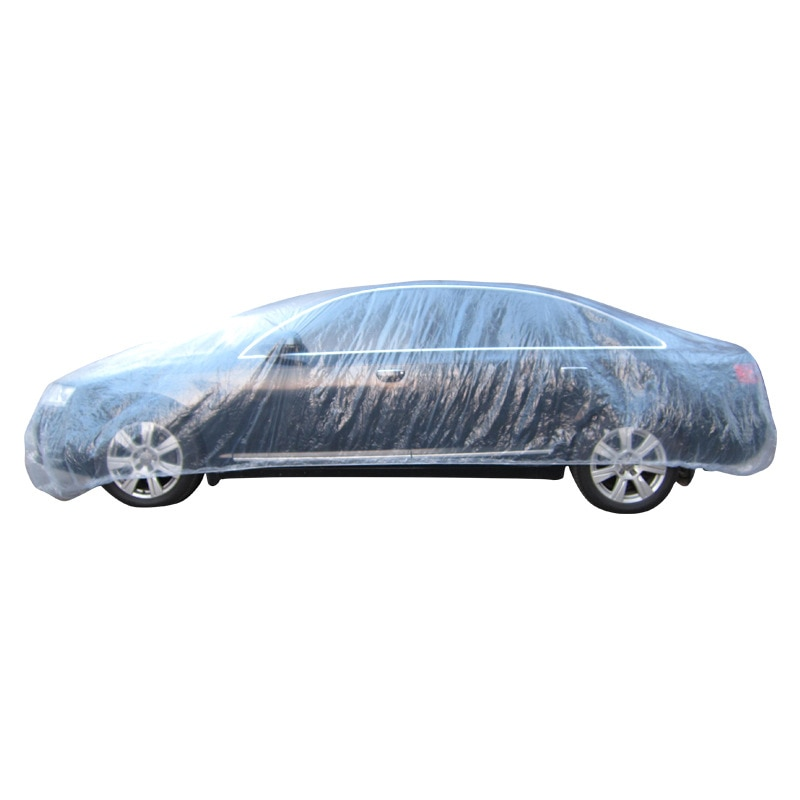 3 Size Protector Film Outdoor Clear Disposable Full Car Covers Rain fog Dust Resistant Garage Universal Auto Car Outdoor Cover