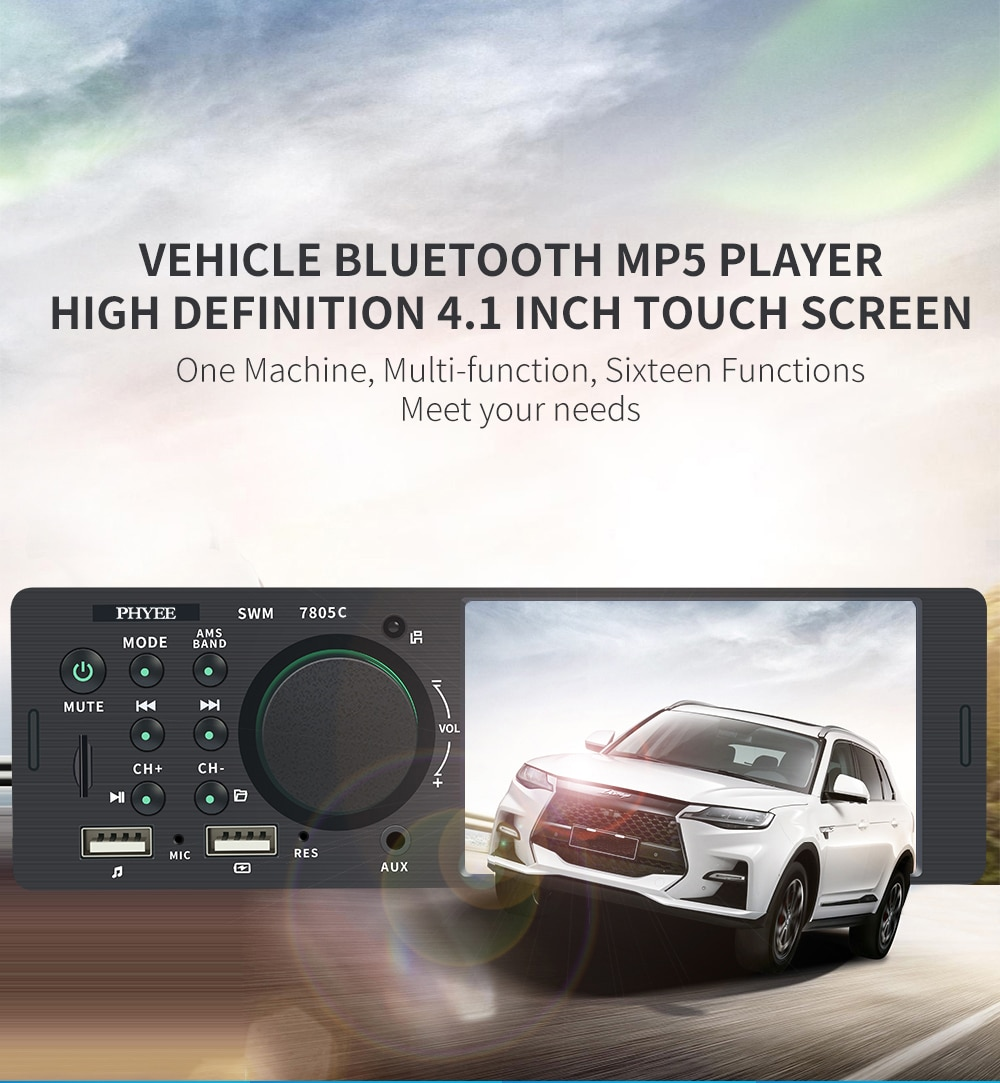 Touch Screen Car Radio 1 Din 4.1 in UK